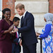 Award winner Rosette Muhoza of Rwanda receives her prize from the Duke of Sussex