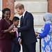 Award winner Rosette Muhoza of Rwanda receives her prize from the Duke of Sussex