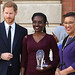 Award winner Rosette Muhoza of Rwanda receives her prize from the Duke of Sussex and the Commonwealth Secretary-General-550