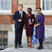 Award winner Rosette Muhoza of Rwanda receives her prize from the Duke of Sussex and the Commonwealth Secretary-General
