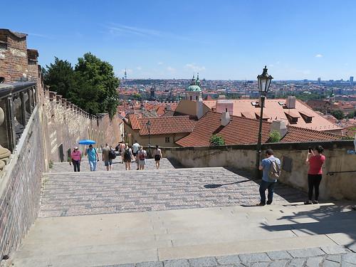 Steps to the castle, Prague