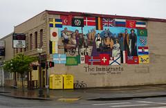 Mural in Aberdeen, WA (SomePhotosTakenByMe) Tags: mural wandbild theimmigrants immigrants kunst art gebäude building immigranten aberdeen stadt city downtown innenstadt outdoor usa america amerika unitedstates washington
