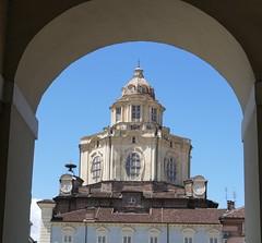 Turin: Dome Through the Arch (John of Witney) Tags: dome arch frame royalpalace palazzoreale turin torino italy italia lacittàmetropolitanaditorinovistadavoi