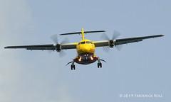 DHL ATR42 ~ YV638T (© Freddie) Tags: aruba oranjestad renaissanceisland dhl atr42 yv638t prop aua tnca tncaaua fjroll ©freddie