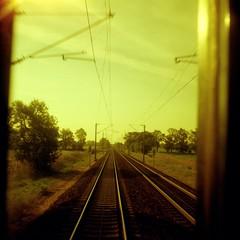 Travelling (ucn) Tags: weltaweltax tessar75mmf35 lomographyxr50200 redscale tracks
