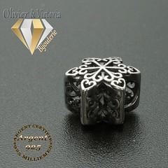 Charms étoile de neige avec coeurs argent 925 (olivier_victoria) Tags: argent 925 coeur charms etoile charm charme neige flocon