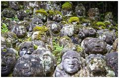 stoned (or faces in the crowd) (Hansoul0) Tags: temple statues castinstone otagi otaginenbutsuji moss travel japan kyoto rakan