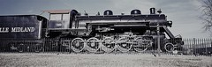 Wheels HFF (Neal3K) Tags: g617 gainesvillega georgia kodakportra400 panoramacamera locomotive steam engine decapod hff