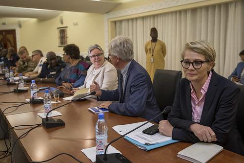 Visite de  Jean-Pierre Lacroix et Pedro Serrano au Mali