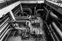 KV9A7739-HDR-1_DxO_Nik (wernkro) Tags: kraftwerk heizkraftwerk germany krokor hdr sw blackwhite rohre tube lostplace