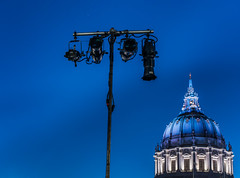 clusterfest in the plaza (pbo31) Tags: sanfrancisco california nikon d810 color night dark june 2019 boury pbo31 bayarea city civiccenter clusterfest comedy show plaza bluehour setup lights cityhall