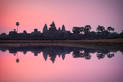 Angkor Wat & Reflection (Luís Henrique Boucault) Tags: ancient angkor architecture asia asian buddha buddhism buddhist building cambodia cambodian culture dawn dusk famous heritage hindu hinduism historic khmer lake landmark monument morning old reap reflection religion religious ruin siam siem silhouette sky stone sun sunrise sunset temple thom tourism tower travel tree tropical unesco wat water world worship