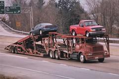 "International on I83: ""Caron"" (PAcarhauler) Tags: ih international carcarrier truck trailer"