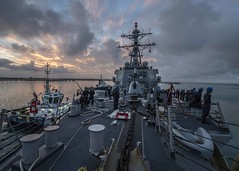 USS Carney (DDG 64) departs Naval Station Rota. (Official U.S. Navy Imagery) Tags: usscarneyddg64 6thfleet c6f fdnf rota spain