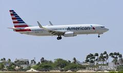 American Airlines B737 ~ N877NN (© Freddie) Tags: aruba oranjestad renaissanceisland american aa americanairlines boeing b737 b738 n877n aua tnca tncaaua fjroll ©freddie