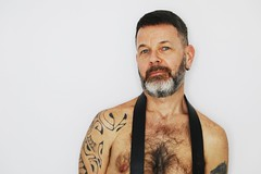 Lorentz # 11 (just.Luc) Tags: man male homme hombre uomo mann chesthair barechested tattoo tatoeage tatouage ink shirtless nipples torsenu mature face gezicht visage gesicht portret portrait ritratto retrato porträt gay baard barbe barba bart beard nu nude nudo desnudo naakt nackt naked