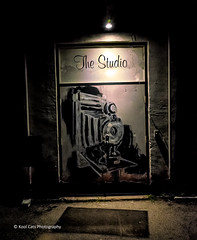 The Studio (Kool Cats Photography over 12 Million Views) Tags: letsaccent door light abstract art oklahoma photography grafitti nightshot abstractart fineart alleyway graffitti photographicart minimalistic edmond graphicarts oddsnends minimulistic ricohgrii oktraveltakeover streetart wall dark gloomy streetphotography