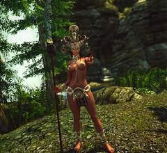 Quick & Dirty #2 (Calithea's Tree House) Tags: skyrim sexy redguard elise leki nini goddess snake