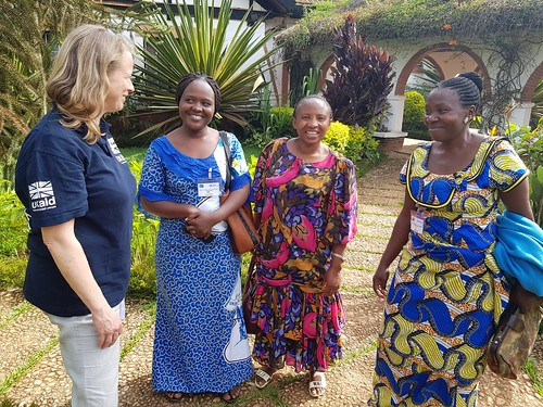 Yolande Wright, the UK's senior lead for the Ebola crisis in DRC talking to women leaders in Beni