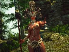 Quick & Dirty #2 (Calithea's Tree House) Tags: skyrim sexy redguard elise leki snake goddess nini
