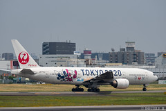 """ItamiAirport 2019.6.21 (17) JA773J / JAL's B777-200 """"みんなのJAL2020ジェット"""" with TOKYO 2020 painting (double-h) Tags: omd em1markii omdem1markii lumixgxvariopz45175mmf4056asphpowerois rjoo itm osakaairport itamiairport 大阪空港 伊丹空港 airplane 飛行機 伊丹スカイパーク itamiskypark ja773j jal 日本航空 b777 b777200 tokyoolympic tokyoparalympics specialpainting olympic paralympic tokyo2020 特別塗装 東京2020 みんなのjal2020ジェット みんなのjal2020ジェット東京五輪 オリンピック パラリンピック"""