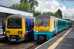 Northern 323229 & Transport for Wales 175115 (Mike McNiven) Tags: arriva railnorth northern wales transportforwales tfw alstom dmu diesel multipleunit emu electric llandudno manchester manchesterairport airport gatley liverpool limestreet crewe