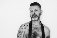 Lorentz # 12 (just.Luc) Tags: baard barbe barba bart beard man male homme hombre uomo mann nu nude nudo desnudo naakt nackt naked barechested shirtless torsenu nipple bn nb zw monochroom monotone monochrome bw mature