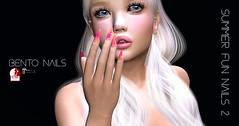 summer fun nails 2 (KoyukiKytori) Tags: secondlife slmarket secondlifemarketplace secondlifefashion avatarfashion avatar 3dgame koyuki summerfunnails2 bento bentonails slpicture secondlifepicture セカンドライフ slink maitreya