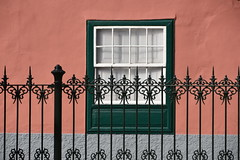 fence in front of a house (Hayashina) Tags: tenerife lalaguna spain fence house window hff