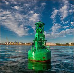 Eastern Gap Buoy T13 (Rodrick Dale) Tags: eastern gap buoy toronto harbour lake ontario canada sky cloud water