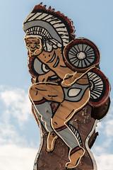Dance of the Cherokee Warrior (sniggie) Tags: cherokee cherokeetrader greatsmokymountainsnp nc sign signage neonsign shutteredbusiness giftshop oldsign