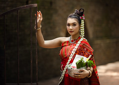 *** (Fevzi DINTAS) Tags: modeling pose portrait asian thailand trasitional cultural style costume people human lady girl beautiful flowers door wall outdoor stylish graceful lovely pretty cute paza140 photography national geographic artistic