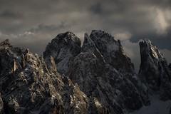 Sunset at the Sassolungo peak (hunblende) Tags: sunset mountains landscape landscapephotography hiking outdoor nature naturephotography dolomites dolomiti italy nikon clouds cloudysky