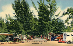 Bradenton Florida Trailer Park Vintage Postcard (Phillip Pessar) Tags: florida trailer park vintage postcard