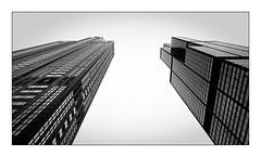Two Towers (Jean-Louis DUMAS) Tags: architecture architect architecte architectural architecturale bâtiment building reflecting buildiing chicago sony art batiment sal70200g twop noretblanc tower award monochrome noir blanc black white bn bnw nb ngc usa illinois