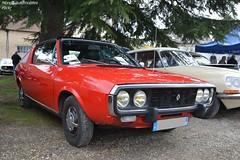 Renault 17 (Monde-Auto Passion Photos) Tags: voiture vehicule auto automobile renault r17 coupé red rouge sportive rare rareté ancienne classique collection rassemblement france courtenay