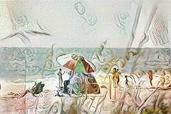 just another day at the beach (Carol (vanhookc)) Tags: ddg deepdreamgenerator ernsthaeckel beach hotweather summertime ocean florida annamariaisland digitalart abstract digitalprocessing