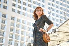 Mai-Ly (kin182photo) Tags: portrait woman girl beautiful fashion glasses model pretty dress robe femme young redhead portraiture belle mode lunettes fille rousse jeune modèle asian asiatique