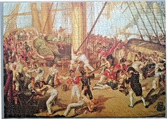 "FALCON F ? 1000 28 3/8X20 CM ART 3164 THE DEATH OF NELSON (Andrew Reynolds transport view) Tags: jigsaw ""jigsaw puzzle"" picture pieces large difficult falcon hobby leisure pasttime f 1000 28 38x20 cm art 3164 the death of nelson"