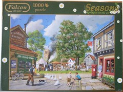 "FALCON F ? 1000 'SEASONS' 68X49CM ART ? SPRING IS IN THE AIR D Roberts DELUXE (Andrew Reynolds transport view) Tags: jigsaw ""jigsaw puzzle"" picture pieces large difficult falcon hobby leisure pasttime f 1000 seasons 68x49cm art spring is in the air d roberts deluxe"