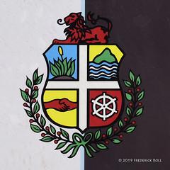 Aruba Coat of Arms (© Freddie) Tags: aruba oranjestad coa coatofarms shield fjroll ©freddie