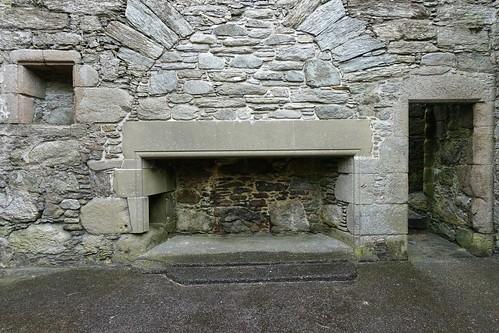 Muness Castle fireplace