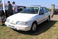 Ford Sierra 1.8 LX K603KMB (Andrew 2.8i) Tags: classics meet show cars car classic weston westonsupermare euro european fordofeurope hatch hatchback 1800 18 lx 1800lx 18lx sierra ford