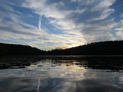 Sunset over Chatcolet Lake (bencbright) Tags: sx60 canonsx60 canon superzoom evening sunset clouds sky heyburn state park benewah idaho forest lake coeurdalene chatcolet