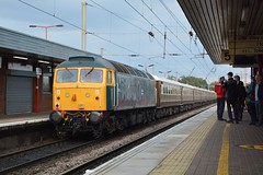 "British Rail Blue Liveried Class 47/8, 47614 (37190 ""Dalzell"") Tags: br britishrail railblue brush sulzer type4 duff spoon class47 class478 47614 d1733 47141 47853 lsl locomotiveserviceslimited statesmanrail settlecarlislestatesman chartertrain railtour northwestern wigan"