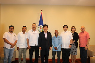 Minister Lin Meets with Mayors of San Pedro and Orange Walk Towns