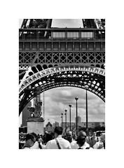 Paris Life (CJS*64) Tags: paris france eiffeltower europe european travel travelling tourist people blackwhite bw blackandwhite mono monochrome whiteblack whiteandblack cjs64 craigsunter cjs nikon d7000 nikond7000 nikkor tower towering