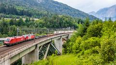 OBB 1116 163 & 1293 043, Leila Tunnel (josip_petrlic) Tags: train railways electric locomotive zug ellok siemens vectron taurus obb 1293 1216
