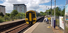 Abellio Scotrail Class 158 158734 at Summerston Station Platform 1 with service 2W54 (20-06-19) (Rikki Cameron) Tags: trains abellio scotrail class158 express sprinter 158734 brel