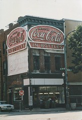 Richmond Virginia - Harvey's Progressive Barber Shop - Drink Coca Cola - Neon Flashing Sign - Photo - 2001 (Onasill ~ Bill Badzo) Tags: richmond va virginia harveys progressive barbershop mccormicks oldneon signs downtown flashing sign vintage old photo scan scanned landmark closed restored cocacola coke soda drink onasill broad street avenue in bottles historic pop american developed southern confederate capitol museum attraction history civilwar commonwealth east